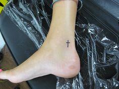 tattoo artists in panama city Florida tattoo shops in panama city squirrel gravy  www.231tattoos.com  //small cross ankle
