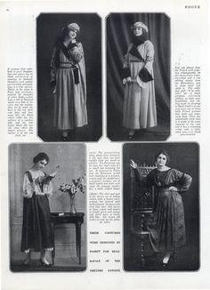 Paul Poiret 1918 Costumes designed by Poiret for Mlle Rafale