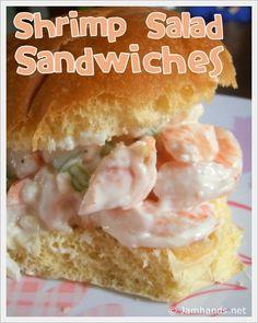 Jam Hands: Shrimp Salad Sandwiches