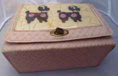 1950's Pink Poodle Purse Small Vinyl TRUE by PattycatsTreasures, $35.00