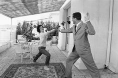 Photography Gina Lollobrigida et son mari Milko Skofic, By   Jack Garofalo