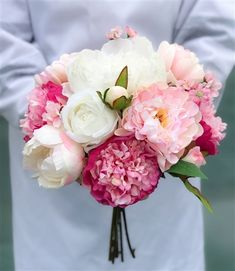 Off White Natural Touch Roses & Silk Peonies - Fuchsia Blush Bouquet #weddingideas #weddingbouquet #realtouch #silkflowers #weddingflowers #weddings #flowers #bouquets #naturaltouch #pinkflowers #blush #fuchsia #roses #peonies