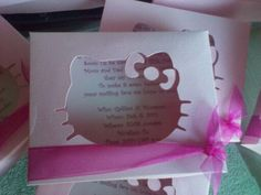 hello kitty invitations ideas | STAMPING with LOVE: Hello kitty invitations