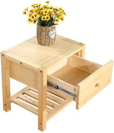 Dressing Table Pine, Wood Knife, Night Table, Bedside Cabinet, Space Saving Furniture, Storage Cabinets, Furniture Plans, Wood Colors, Solid Wood