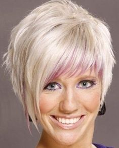 asymmetrical haircuts with bangs | ... bangs, youth haircut for bold girls, Asymmetrical short hairstyle for