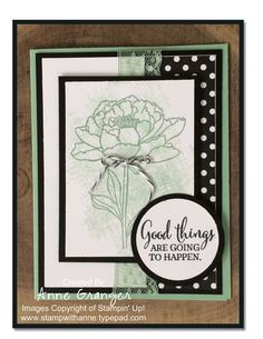 Love the Mint Macaron and Black together!! Created using Stampin Up You`ve got this stamp set, 2015 incolours, and Neutrals Designer Series pack.