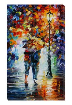 Leonid Afremov Bonded By The Rain I, Gallery Wrapped Canvas - Beyond the Rack $119.99