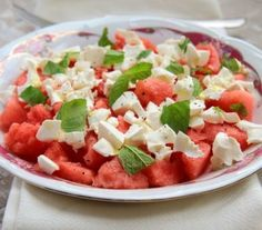 The Most Refreshing Salad Ever: Watermelon and Feta Cheese Salad!