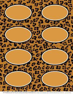 animal print labels for download - free