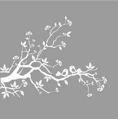 Vinyl Wall Decals  Nursery White Tree Branch  by NurseryWallArt, $69.99