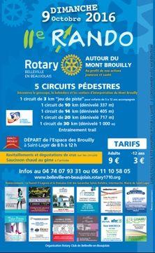 RANDO BEAUJOLAIS - dimanche 9 octobre 2016, le Rotary club Belleville Beaujolais organise une randonnée autour du Mont Brouilly .    #RandoBeaujolais #Rotary #Brouilly