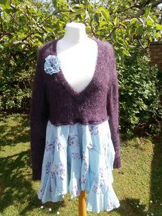 Upcycled Sweater Dress 'Amaranth' UK size 16/US size 12
