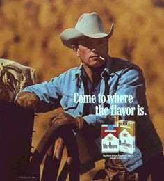 realmensmoke:  Marlboro Man Marlboro Cowboy, Marlboro Red, Retro Ads, Vintage Ads, Old Advertisements, Advertising, Rodeo Cowgirl, Cowboy Pictures, Cigarette Brands