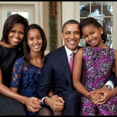 The First Family of The United States of America. Beautiful family.