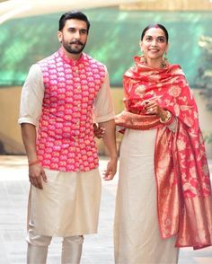 Deepika Padukone and Ranveer Singh Wedding Wedding Kurta For Men, Wedding Dresses Men Indian, Wedding Dress Men, Wedding Sherwani, Indian Dresses, Indian Outfits, Wedding Bride, Mens Sherwani, Western Outfits