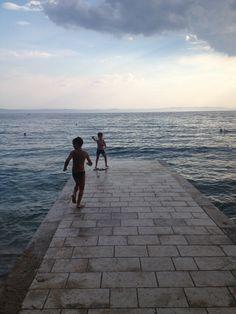 Croatia, Makarska. Rain is coming