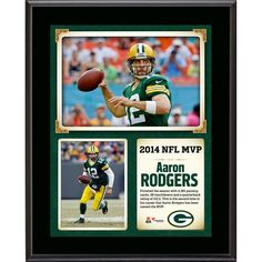 """Aaron Rodgers Green Bay Packers Fanatics Authentic 10.5"""" x 13"""" NFL Honors 2014 MVP Sublimated Plaque - $29.99"""