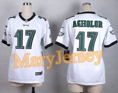 """$23.88 per one, welcome email """"MaryJersey"""" at maryjerseyelway@gmail.com 2015 NFL Draft Nike Eagles 17 Nelson Agholor White Women Stitched New Elite Jersey"""