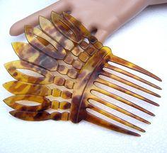 Decorative hair comb Victorian Spanish comb by ElrondsEmporium