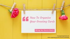 Did you keep all the Christmas cards you received this year?  Here are 5 questions to ask yourself to stop greeting cards becoming clutter  Don't delay, start today Sara