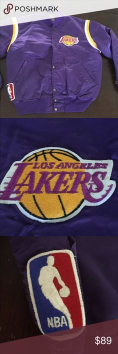d01e18d42c4a9 Vintage lakers satin jacket. Large Vintage satin jacket. Mid 80s early 90s.  Pre