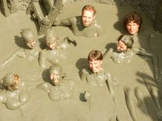 #Colombia Getting dirty! 'Healing' volcanic mud bath at Volcan del Totumo @ AnnMertens