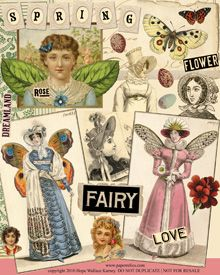 Fairy Digital collage sheet