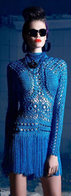 Wow couture crochet. Nicolas Jebran Couture F/W 2013
