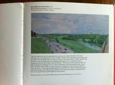 """Don Valley on a Grey Day"" (William Kurelek, - Overlooking the DVP from the Bloor viaduct. William Kurelek, Toronto Canada, Once Upon A Time, Ontario, Grey, Board, Painting, Gray, Painting Art"