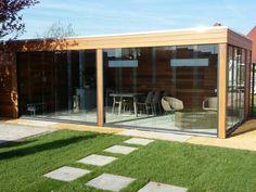 Tuinhuizen & Prieeltjes - Specialist in Western Red Ceder Jacuzzi, Exterior Design, Terrace, Garage Doors, Stairs, Backyard, Studio, Garden, Outdoor Decor