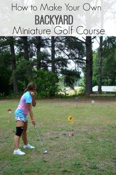 How to build a homemade mini golf course diy ideas pinterest a fun and inexpensive way to turn your own backyard into a miniature golf course fandeluxe Images