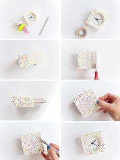 5 min DIY washi tape clock