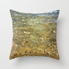 Plage de Saint-Clair - Paix - France Throw Pillow by Escrevendo e Semeando - $20.00