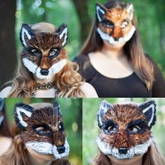 Fantastic Mr. Fox mask on the left and Felicity Fox on the right! From the latest photo shoot with @grittypearl 🐺❤️🐺