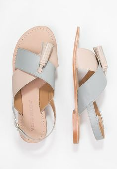 98b6ef9d6d672 Vero Moda CATJA - Sandały - rose/dust Leather Sandals, Free Delivery, Vero