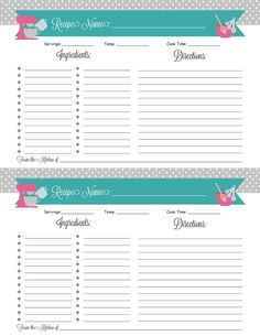 Binders Recipes + a Printable! Free Printable Stationery, Printable Recipe Cards, Printable Labels, Free Printables, Homemade Recipe Books, Homemade Cookbook, Diy Recipe, Recipe Scrapbook, Recipe Binders
