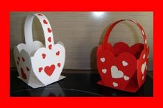 saint valentin - Page 2 Diy And Crafts, Crafts For Kids, Shape Crafts, 8th Of March, Valentine Crafts, Gift Bags, Paper Flowers, Fathers Day, Baby Shoes