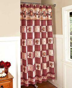 Country Heart & Star Bathroom Shower Curtain
