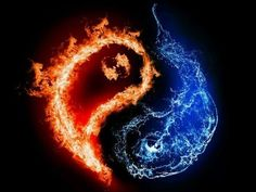 fire and ice heart - Google Search