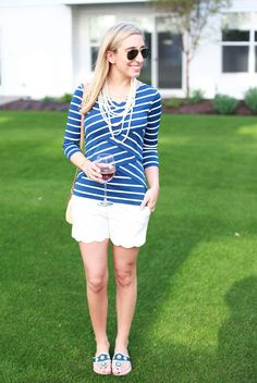 Stripes and scalloped shorts - even better that I basically have this exact shirt (expect darker navy and grey stripes).