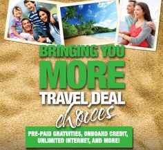 Changing Travel One Vacation At A Time, with more great, limited-time offers and specials! Act quickly, these offers won't last long. New Travel, Travel Deals, London Travel, Spain Travel, Deals On Cruises, Hotel Deals, Cruise Specials, Cruise Planners, Travel Tickets
