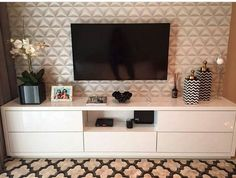 Home Living Room, Living Room Decor, Bedroom Decor, Room Interior, Interior Design Living Room, Tv Wanddekor, Tv Stand Decor, Living Room Tv Unit Designs, Muebles Living