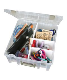 Take a look at the Super Satchel Double Deep Box & Removable Dividers on #zulily today!