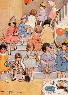 Little Girls At Party-Frances Tipton Hunter