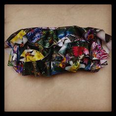 Strapless triple volado Estampado Happy Collage Bikinis Morcis Swimwear Mix & Match