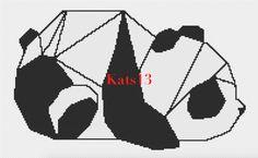 PDF Modèle Panda broderie point de croix : Tutoriels de fabrication par kats13