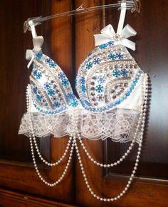 Winter wonderland rave/ festival/ costume bra size 34C on Etsy, $55.00