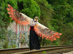 Phoenix Wings Raven Totem by GalacticPhoenix on Etsy, $725.00