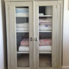 shabby chic painted linen cupboard contact us for more info