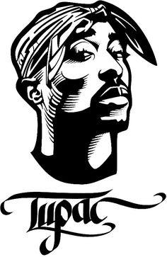 Hip Hop Tupac Shakur Wall Stickers For Kids Boys Rooms Vinyl Wall Decals Living Room Home Decor Muursticker Wall Art Tupac Shakur, Cheese Drawing, Native Drawings, Stencil Logo, Tupac Art, Arte Peculiar, Rapper Art, Hip Hop Art, Wall Stickers